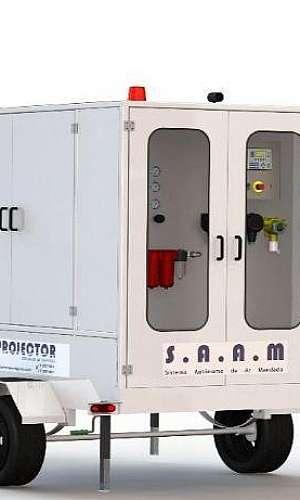 Locação de máquinas de ar respirável